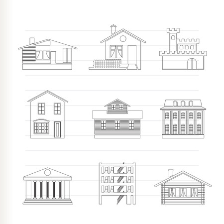 different kind of houses and buildings  Stock Vector - 8278476