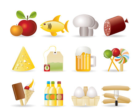 food, drink and shop icons  Stock Vector - 8278511