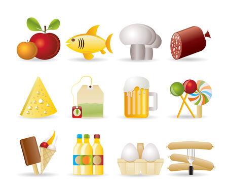 icônes de nourriture, de boissons et de boutique
