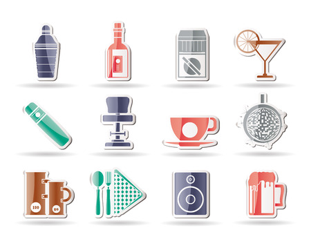 dance bar: Night club, bar and drink icons