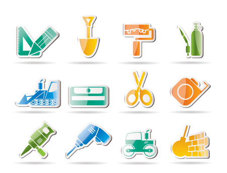 bagger: building and construction icons  Illustration