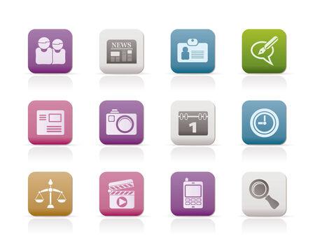 sitio Web, equipo y los iconos de negocio