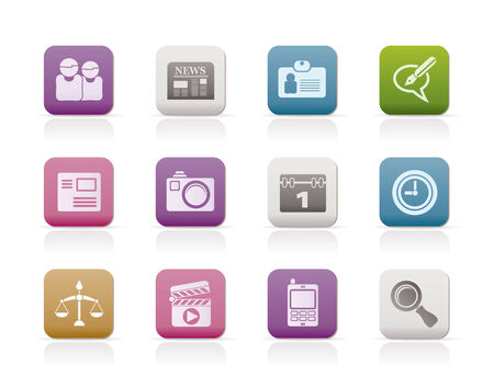 web site, computer and business icons Stock Vector - 8278492