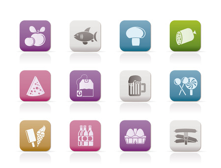 food, drink and shop icons  Stock Vector - 8278496