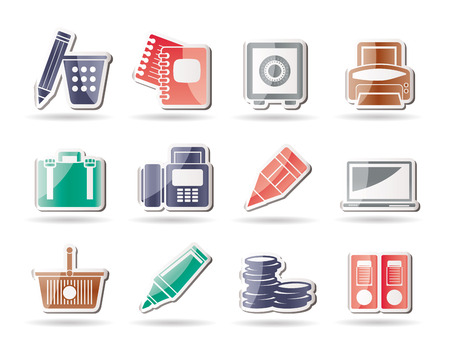 Business, Office and Finance Icons Stock Vector - 8278508
