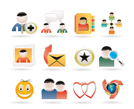 telecomunication: Internet Community and Social Network Icons