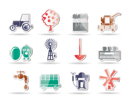 mattock: farming industry and farming tools icons