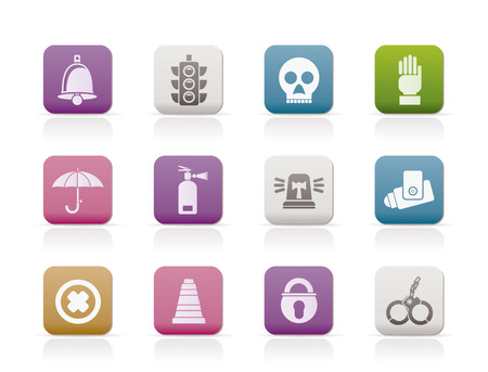 Surveillance and Security Icons Stock Vector - 8372306