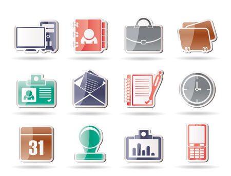 Web Applications,Business and Office icons, Universal icons  Vector