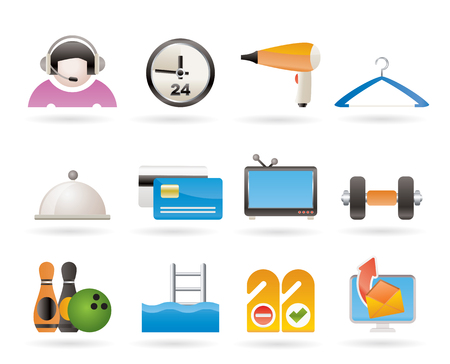 switchboard: hotel and motel amenity icons