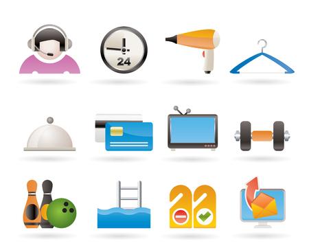 standardiste: ic�nes de commodit�s h�tel et de motel