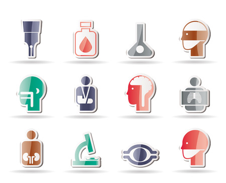 medical, hospital and health care icons - icon set Stock Vector - 8407404