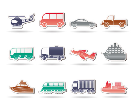 omnibus: Travel and transportation icons - vector icon set