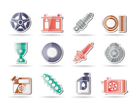 oil change: Car Parts and Services icons - Vector Icon Set 5
