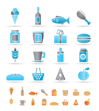 shop, food and drink icons - vector icon set Stock Vector - 8446393