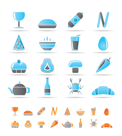 shop, food and drink icons - vector icon set 2 Vector