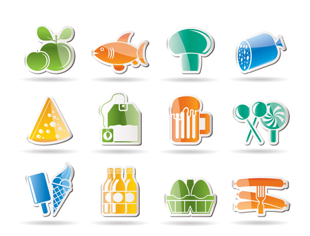 ice cream soft: food, drink and shop icons - vector icon set