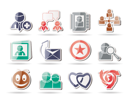 Internet Community and Social Network Icons  Stock Vector - 8517774