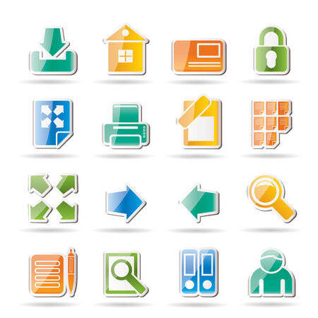 Internet and Web Site Icons - Icon Set Vector