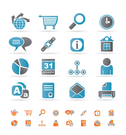 Web Site, Internet and computer Icons - icon set Stock Vector - 8556194