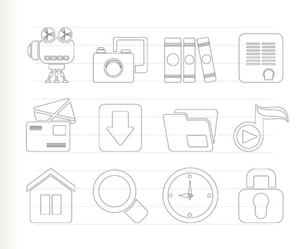 chock: Computer and website icons - icon set