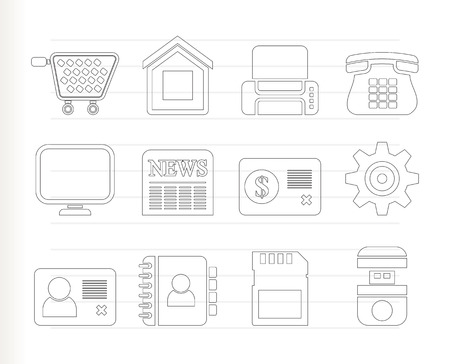 Business, office and website icons - icon set Vector