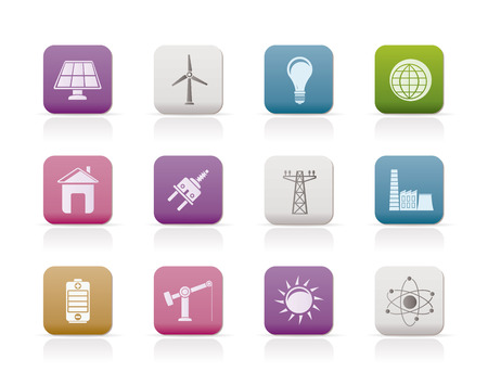 power, energy and electricity icons Stock Vector - 8600284