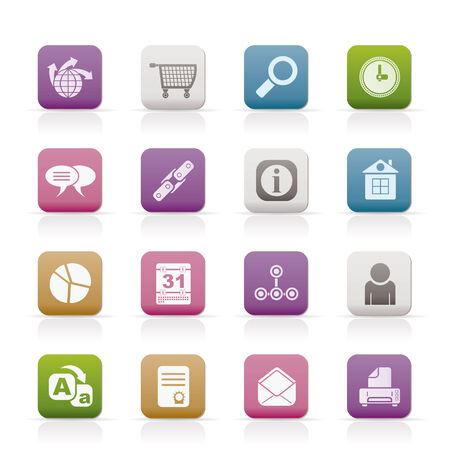 Web Site, Internet and computer Icons Stock Vector - 8600295
