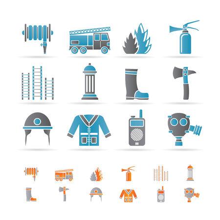 gas flame: icona di attrezzature-vigili del fuoco e del vigile del fuoco