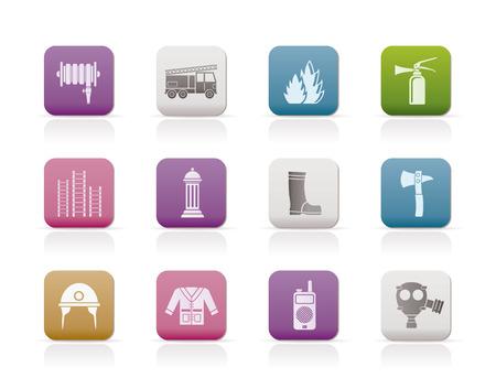 fire engine: icona di attrezzature-vigili del fuoco e del vigile del fuoco