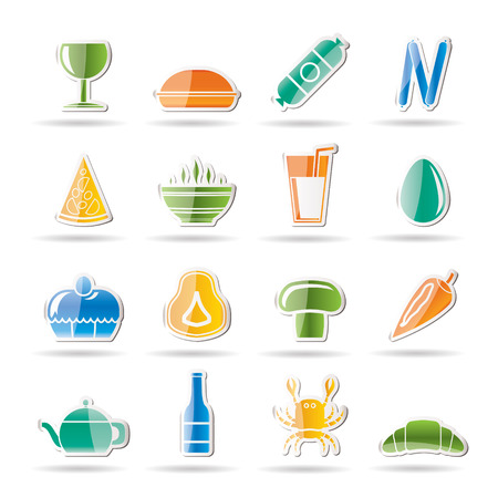 sweetmeat: shop, food and drink icons