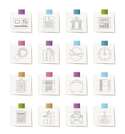 Business and Office Realistic Internet Icons Stock Vector - 8600301