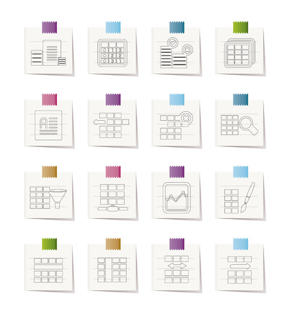 formatting: Database and Table Formatting Icons