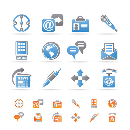 Business, office and internet icons Stock Vector - 8600299