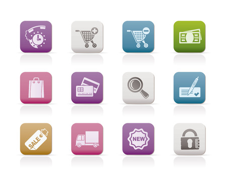 Internet icons for online shop - vector icon set Vector