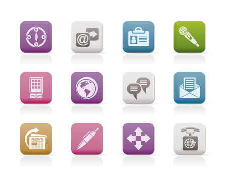 Business, office and internet icons - vector icon set Vector