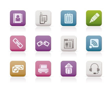 internet and website icons - vector icon set Vector