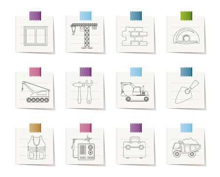 weld: building and construction icons - vector icon set Illustration