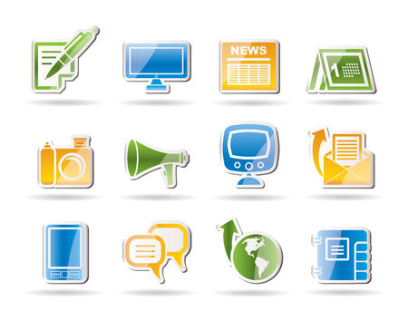channels: Communication channels and Social Media icons - vector icon set