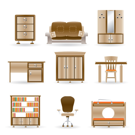 home and office furniture Stock Vector - 8738722
