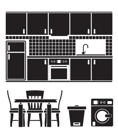 equipo, mobiliario y objetos de cocina