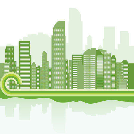 green city background - Jakarta Stock Vector - 8738735
