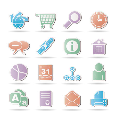 WebSite, Internet and navigation Icons Stock Vector - 8738732