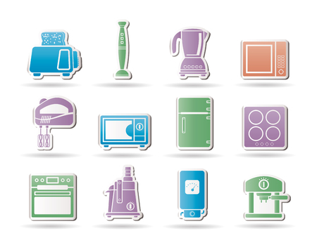 Kitchen and home equipment objects Vector