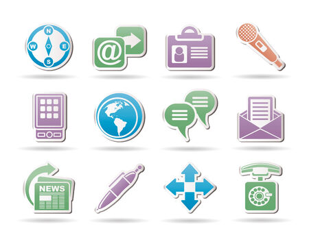 Business, office and internet objects and signs Stock Vector - 8865370