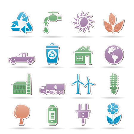 ecology and environment objects Stock Vector - 8865411