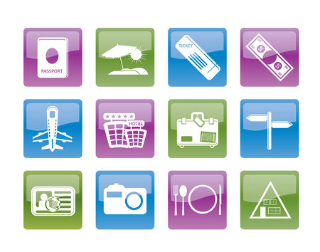 Simple Travel and trip Icons Stock Vector - 8865414