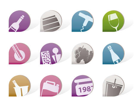 producing: Wine and drink Icons Illustration