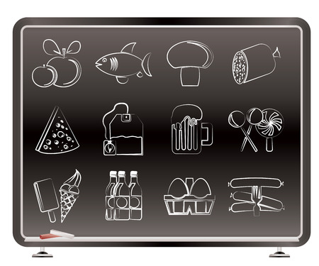 food, drink and shop icons - vector icon set Vector