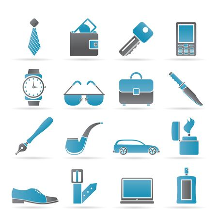 man Accessories icons and objects- vector illustration Vector